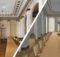 """Mithilfe von Fotoaufnahmen einer handelsüblichen Spiegelreflexkamera, Referenzmaßnahmen und dem Gebäude- umriss der Villa Mumm entstand deren """"Digitaler Zwilling"""". Foto und Grafik: Bundesamt für Kartographie und Geodäsie (BKG)"""