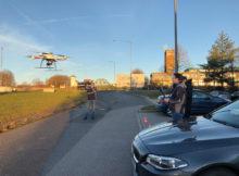 Drohnen im Einsatz: Seit 2018 setzt Wierig Profiltechnik eine md4-1000+ von Microdrones ein, um möglichst genaue Ergebnisse zu erhalten. Foto: Wiering Profiltechnik