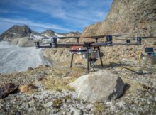 Schwieriges Terrain für UAVs: Die Hänge sind steil, die Winde stark. Mit dem Soleon LasCo x8flat und einem RIEGL miniVUX-1UAV ausgestattet, konnte Alto Drones die Aufgabenstellung trotzdem bewältigen. Foto: Alto Drones