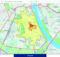 Bei der Analyse werden die Einzugsgebiete nach Fahr- oder Gehzeit berechnet oder auch manuell als Polygon, Rechteck oder Kreis eingegeben, je nach Bedarf. Foto: WiGeoGIS