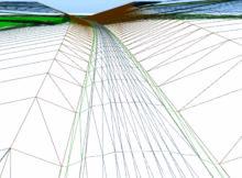 3D-Modellierung des Trassenverlaufs. Die Software berechnet durch das integrierte DGM automatisch die notwendigen Erdbewegungen. Foto: Software-Service John GmbH